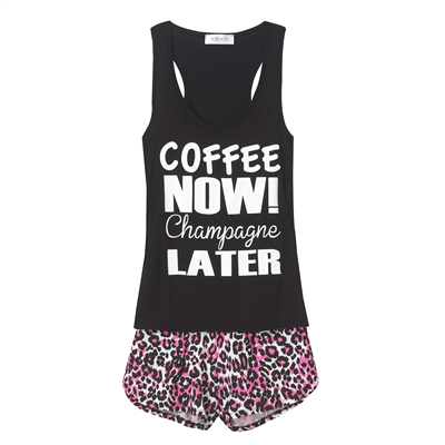 Women's Coffee PJ Set