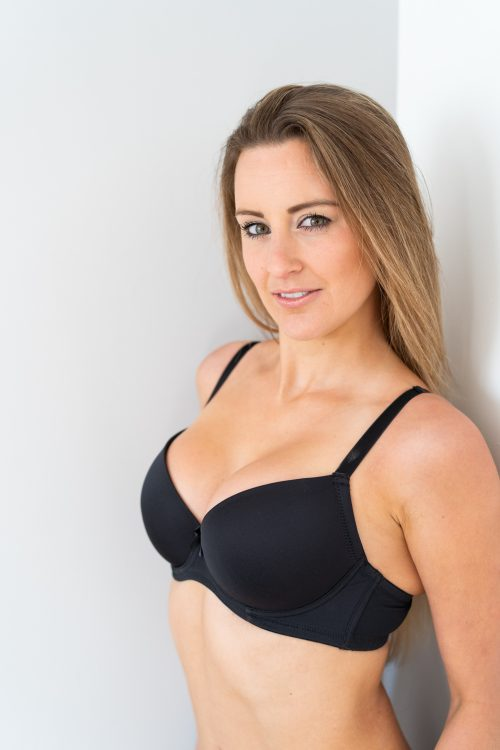 black t shirt bra