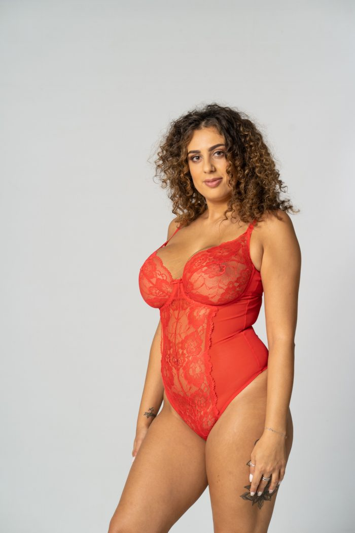 Red Unpadded Lace Body